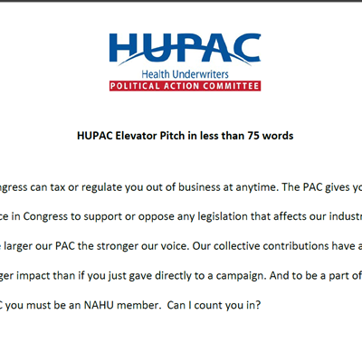 HUPAC Elevator Pitch